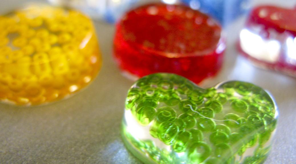 Perles de résine